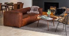Cigar Rawhide Brown Sofa