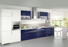 #Küche in Blau #Küchenzeile www.dyk360-kuechen.de