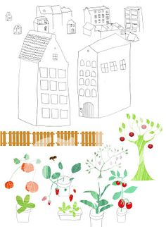 Urban Gardening illustrated by Stadsgiraffe