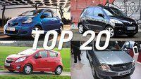 Top Auto : le Top 20 des voitures les moins chères du marché