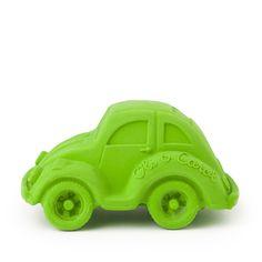 Bijtauto groen natuurlijk rubber - bpa vrij - bijten - bad - plezier