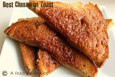 A Feast for the Eyes: Cinnamon Toast the Pioneer Woman Way ~ made on 12-28-13... big hit with my kids!