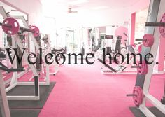 ahh, perfect. i want a pink home gym.