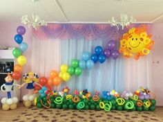 (46) Одноклассники Birthday Balloon Decorations, Balloon Centerpieces, Stage Decorations, Birthday Party Themes, Balloon Backdrop, Balloon Wall, Flower Backdrop, Customer Appreciation Day, Unicorn Birthday