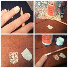 Oh modge podge can do so many wondrous things like... fabric nails!