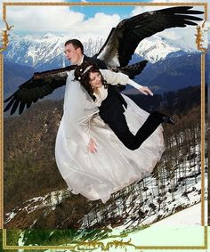Flying her off to his love nest on some mountain top where he'll regurgitate wedding cake into her mouth.