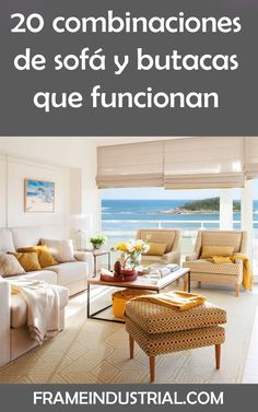 20 combinaciones de sofá y butacas que funcionan #combinacion #sofa #butacas #funciona #tendencias #decoraciones #estilos Color Combinations, Decorations, Trends, Style