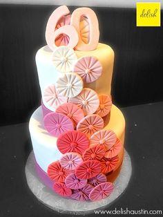 pretty, simple and elegant birthday cake
