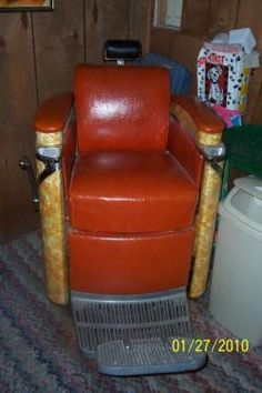 Antique hydraulic koken barber chair | Instappraisal
