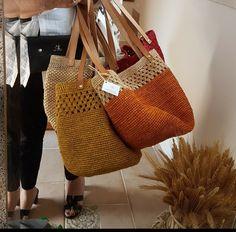 Crochet Tote, Crochet Handbags, Knit Crochet, Creative Bag, Bag Pattern Free, Striped Bags, Jute Bags, Summer Bags, Knitted Bags