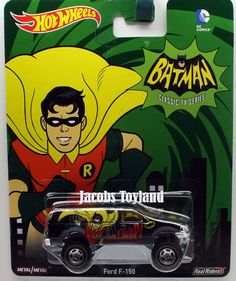 1:64 2015 Hot Wheels Pop Culture Batman Classic TV Series Ford F-150 Robin #HotWheels #Ford