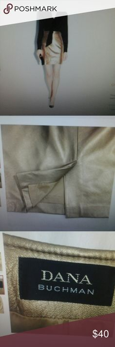 Dana Buchman Gold Skirt Beautiful skirt, butter soft. Fully lined. Perfect condition,  no stains or holes. Get it for the upcoming winter or fall. Pair it with some high black boots. Dana Buchman Skirts Pencil