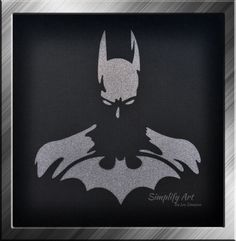 Batman Wall Art Super Hero Justice League Silhouette Wall Art By  SimplifyArtbyLea