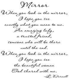 A poem I wrote for my sisters!  And for daughters too!