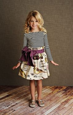 Persnickety Clothing - Hattie Skirt in Purple