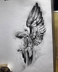 First step of a big project! Angel pencil statue of … - diy tattoo project Kunst Tattoos, Body Art Tattoos, New Tattoos, Tattoos For Guys, Cool Tattoos, Tatoos, Diy Tattoo, Tattoo Sleeve Designs, Sleeve Tattoos