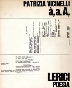 Patrizia Vicinelli, à, a. A, - Lerici,  1966
