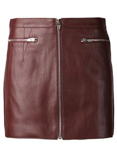 Shop Alexander Wang zipped mini skirt seen@farfetch.com