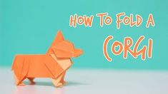 How to fold an Origami Corgi! This is the next tutorial of the origami animal…