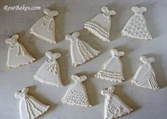 Wedding Dress Cookies Roll-Out Sugar Cookie Recipe