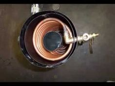 Heating coil for a rocket stove radiant heat boiler.