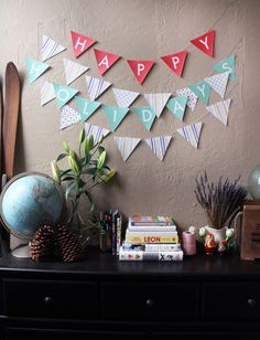 DIY: Pennant Flag Banners (+ Free Printables!)   Brit + Co.