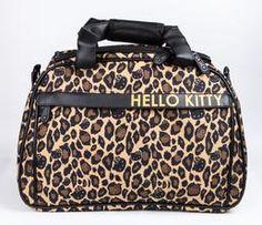 Hello Kitty Overnight Bag: Leopard