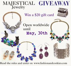 Fashion and Cookies - fashion blog: Majestical Jewelry $20 Giveaway