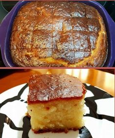 Δροσερή Γιαουρτόπιτα σιροπιαστή Greek Sweets, Greek Desserts, Greek Recipes, Baby Food Recipes, Dessert Recipes, Cookbook Recipes, Cooking Recipes, Greek Cake, Low Calorie Cake