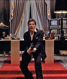 "Scarface - ""So you wanna play huh? Say hello to my little friend."" - Tony…"