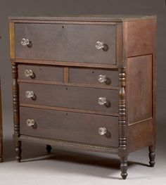Cherry and Curly Maple Shinnston, West Virginia Chest of Drawers, (2005, Furniture & Decorative Arts / May 27-28)
