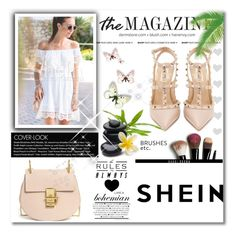"""""""Shein"""" by mickey-iv ❤ liked on Polyvore featuring Valentino, WithChic, Chloé and Bobbi Brown Cosmetics"""
