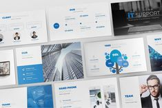 IT Support Keynote Template come with 90 unique slides flat blue design, clean, minimalist and modern presentation. Tailor made for your information and technology business.Created to make your business presentation stand out, pain-free and professional… Business Presentation Templates, Professional Powerpoint Templates, Phone Mockup, Photography For Sale, Blue Design, Keynote Template, Behance, Minimalist, Brochure Layout