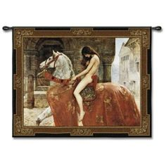 """Lady Godiva 53"""" Wide Wall Tapestry -"""