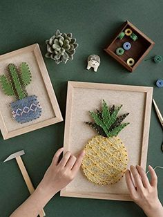 Amazon.com: RM Studio DIY Pineapple String Art Kit with All Necessary Accessories and Frame for Kids Students, Adult Crafts Kit, Home Wall Decorations Unique Gift: Posters & Prints Diy Crafts For Adults, Adult Crafts, Craft Kits, Craft Supplies, Cool Gifts, Unique Gifts, Diy Beeswax Wrap, Man Crates, Hawaiian Theme
