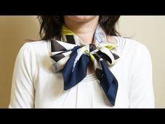 Scarf 15 : Square / 絲巾篇1 (方巾) / carré / 네모난 스카프 / 正方形 - YouTube