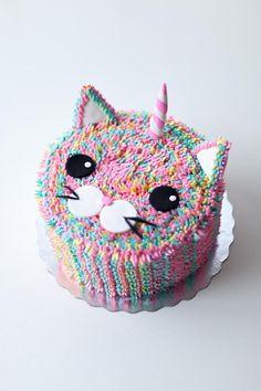 Caticorn Cake by Coco Cake Land (unicorn birthday cakes tutorial)