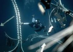 hortense le calvez + mathieu goussin showcase underwater art installation below the aegean sea