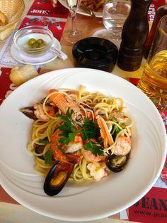 Seafood Pasta in Lugano, Switzerland