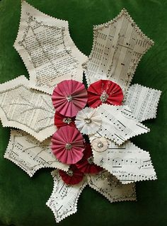 Paper holly Fun by Pam Garrison #christmascrafts