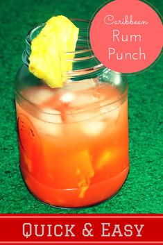 A tasty Caribbean Rum punch that is very easy and refreshing.