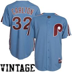 cca6fd301 Steve Carlton Philadelphia Phillies  32 Majestic Cooperstown Collection Throwback  Jersey - Light Blue Cy Young