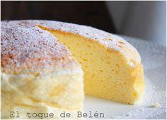Pastel de queso japonés, ¡3 ingredientes y sin gluten!