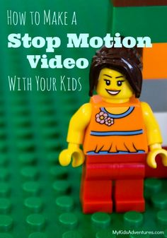 to Make a Stop Motion Video With Your Kids, LEGO Style Are your kids bored this summer? Make a low- to no-cost stop motion movie with your family.Are your kids bored this summer? Make a low- to no-cost stop motion movie with your family. Stem Projects, Lego Projects, Projects For Kids, Crafts For Kids, Diy Crafts, Lego Activities, Summer Activities, Lego Games, Kid Games
