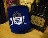Knit at the Bar -- Knit R2D2 Star Wars Themed Beer Coozie (Blue)