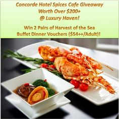 Win Concorde Hotel Spices Cafe Buffet Vouchers Worth $200 !