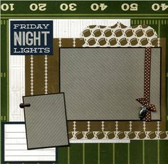 football scrapbook layouts - Google Search