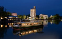Erie Canal at Night in Pittsford {photo by: RIT Photography School}