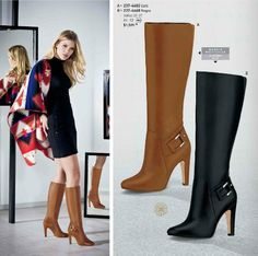 Botas de Moda Andrea. Botas para damas tacon 12 cm, botas de caña larga, botas andrea para otoño invierno