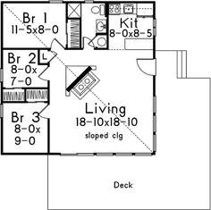 el plano de casa moderno con un diseño 3 dormotiros 1 cuarto de bano